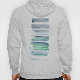 Frozen Summer Series 156 | Watercolor Simple Pattern Blue Shades Vertical Hoody