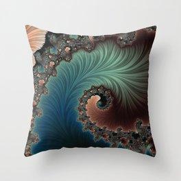 Velvet Crush - Fractal Art Throw Pillow