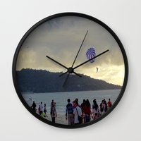 thailand Wall Clocks featuring Thailand Sunset by ENGINEMAN - JOSEPHAMT