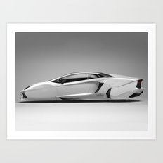 Lambo Hover Car  Art Print