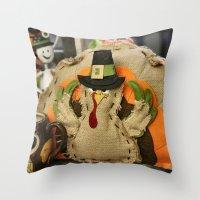 turkey Throw Pillows featuring Turkey Time by IowaShots