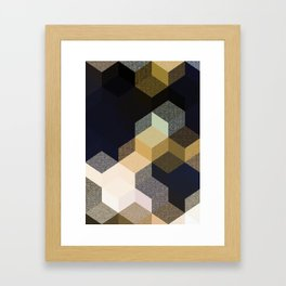CUBE 1 GOLD & BLACK Framed Art Print