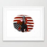 asap rocky Framed Art Prints featuring ASAP Rocky American Flag by JuanTon
