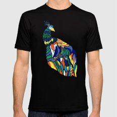 Pavo Cristatus SMALL Black Mens Fitted Tee