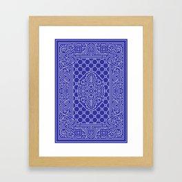 Playing Card Back - Blue Framed Art Print