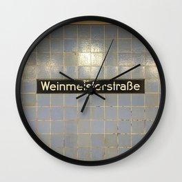 Berlin U-Bahn Memories - Weinmeisterstraße Wall Clock