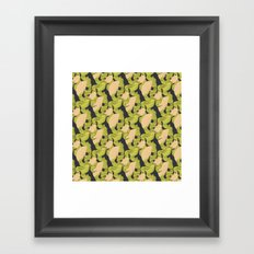 Trailing Hair and Fan // Fall Colourway Framed Art Print
