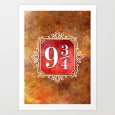 9 3/4 Art Print