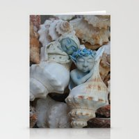 pixies Stationery Cards featuring Sea pixies by Tracey Burgun