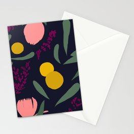 Abtract Garden by Night Stationery Cards