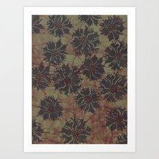 Batik Poppies Art Print
