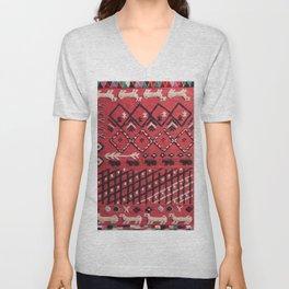 V22 Sheep herd Design Traditional Moroccan Carpet Texture. Unisex V-Neck