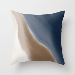 Rust and Navy Abstract Waves Throw Pillow