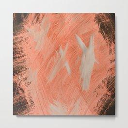 Kaws cross, Abstract, Orange Flamengo Metal Print