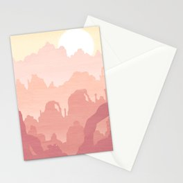 Mountains Golden Stationery Cards