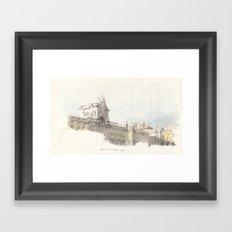 Praca do Comercio, Lisbon, Portugal. Framed Art Print