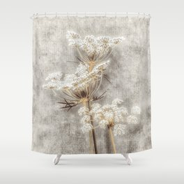 French Country Queen Anne's Lace Shower Curtain