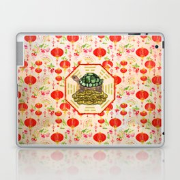 Watercolor Tortoise / Turtle Feng Shui on Bagua Laptop & iPad Skin