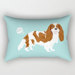 Cavalier King Charles Spaniel blenheim funny farting dog breed gifts Rectangular Pillow