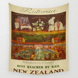 Vintage poster - Rotorua Wall Tapestry