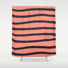 Paint Lines Combination Shower Curtain