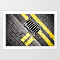 grid Art Prints featuring Grid by PRE Media