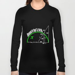 round it up 3.1416 Pi day math t-shirts Long Sleeve T-shirt