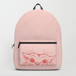 Coral Kitty Backpack