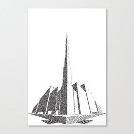 City Block Perspective Stipple Canvas Print