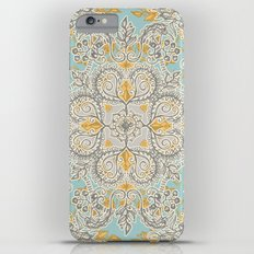 Gypsy Floral in Soft Neutrals, Grey & Yellow on Sage iPhone 6s Plus Slim Case