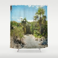 Pathway to Paradise Shower Curtain