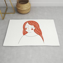 Red Haired Woman Rug