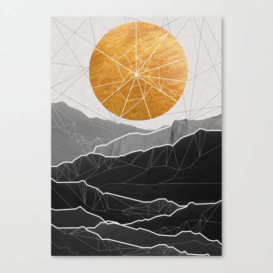Shattered Sun Canvas Print
