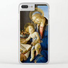 Sandro Botticelli - The Virgin and Child, 1480 Clear iPhone Case