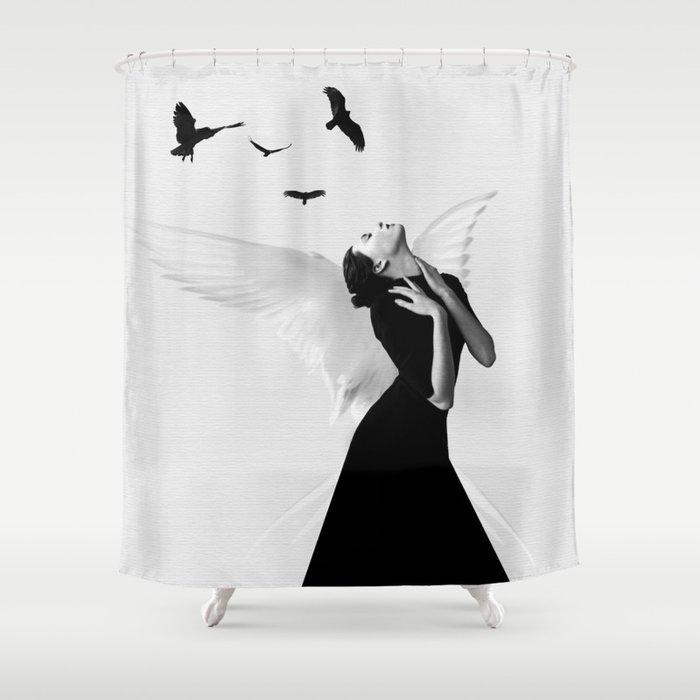 Angel Shower Curtain By Dada22