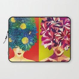 Flower Lady Laptop Sleeve