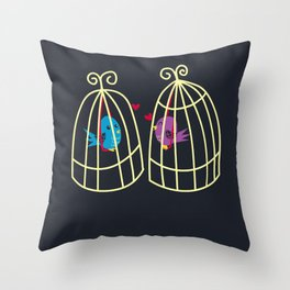 Birdcage Love Throw Pillow