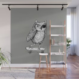 Ride On Owl_grey Wall Mural