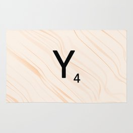 Scrabble Letter Y - Scrabble Art and Apparel Rug