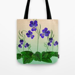 Blue Violets Tote Bag