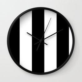 5th Avenue Stripe No. 2 in Black and White Onyx Wall Clock