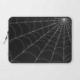 Spiderweb on Black Laptop Sleeve