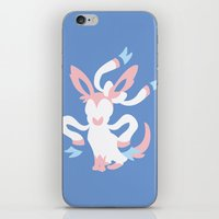 sylveon iPhone & iPod Skins featuring Sylveon by Polvo