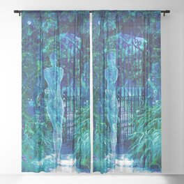 Blue Spirit Sheer Curtain