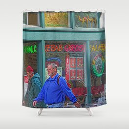 Gyros of Seattle Shower Curtain