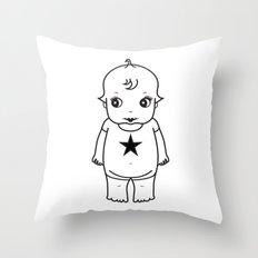 kewpie lineart Throw Pillow