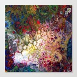 White Rainbow Lava Flow Canvas Print