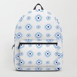 geometric flower 64 blue Backpack