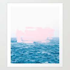 Ocean + Pink #society6 #decor #buyart Art Print