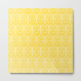 MCM Tulip Outline in Yellow Metal Print
